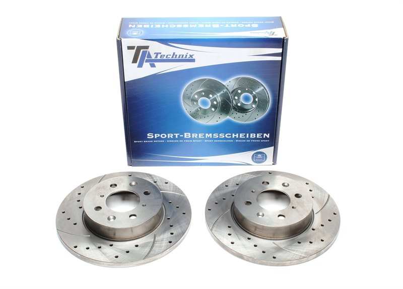 MG ZR 120 Drilled Grooved Brake Discs Front Rear /& pads