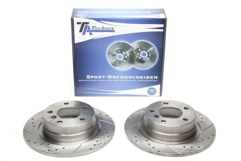 BMW E36 Compact TA TECHNIX Sport-Bremsscheiben Hinterachse Bremsbeläge