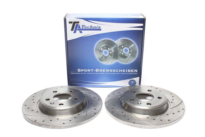 TA TECHNIX Sport Bremsscheiben Satz Hinterachse Audi A6