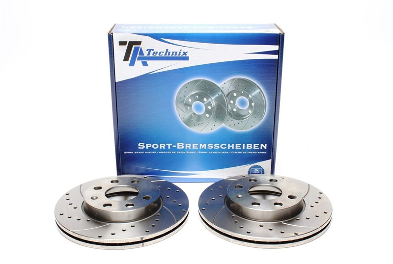 TA TECHNIX Sport-Bremsscheiben Satz Vorderachse Opel Corsa B