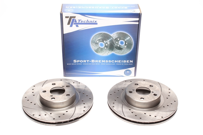 Brake Discs Full Axle Set 277mm Vented For Subaru Outback 2.5 Front Brake Pads