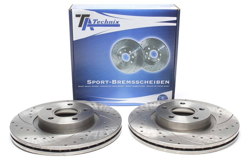 Brake Discs 300mm Vented Ford Focus 1.6 TI 1.6 1.6 Flex-Fuel Front Brake Pads