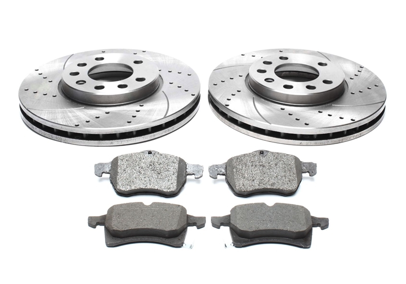 Front brake discs and brake pads Fits Renault Clio Megane Twingo